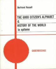 Cover of: The good citizen's alphabet by Bertrand Russell