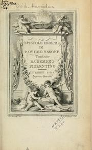 Cover of: Heroides by Ovid
