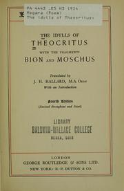Cover of: Idylls by Theocritus.
