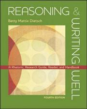 Cover of: Reasoning & writing well by Betty M. Dietsch