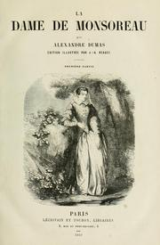 Cover of: Dame de Monsoreau by Alexandre Dumas