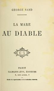 Cover of: La mare au diable by George Sand