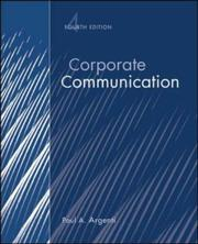 Cover of: Corporate communication by Paul A. Argenti