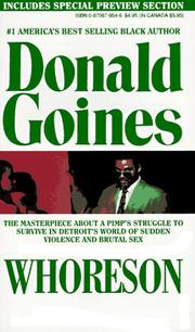 Cover of: Whoreson by Donald Goines