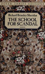 Cover of: The school for scandal by Richard Brinsley Sheridan