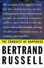 Cover of: The conquest of happiness by Bertrand Russell