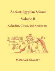 Cover of: Ancient Egyptian science by Marshall Clagett
