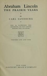 Cover of: Abraham Lincoln by Carl Sandburg