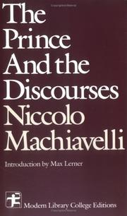 Cover of: The Prince and the Discourses by Niccolò Machiavelli