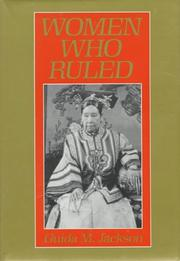 Cover of: Women who ruled by Guida M. Jackson-Laufer
