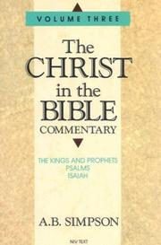 Cover of: The Christ in the Bible Commentary Vol. 3 by A. B. Simpson