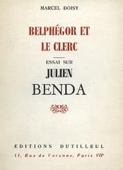 Cover of: Belphégor et le clerc by Marcel Doisy