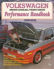 Cover of: Volkswagen, water-cooled, front-drive performance handbook by Greg Raven
