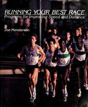 Cover of: Running Your Best Race by Joe Henderson