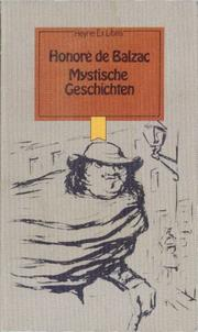 Cover of: Mystische Geschichten by Honoré de Balzac