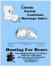 Cover of: Early LaSalle Parish Louisiana Marriage Index 1910-1920 by Nicholas Russell Murray