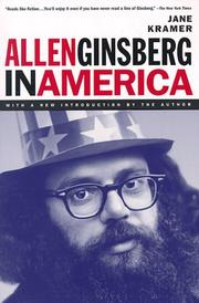 Cover of: Allen Ginsberg in America by Jane Kramer