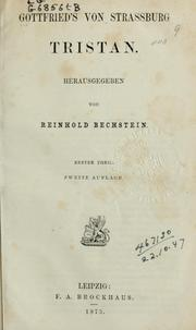 Cover of: Tristan by Gottfried von Strassburg