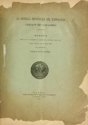 Cover of: La novella provenzale del Pappagallo (Arnaut de Carcasses) by Paolo Savi Lopez