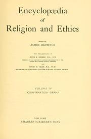 Cover of: Encyclopaedia of religion and ethics by James Hastings