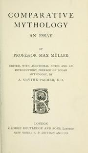 Cover of: Comparative mythology by F. Max Müller