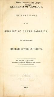 Cover of: Elements of geology by Elisha Mitchell