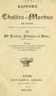 Cover of: Rapport sur le choléra-morbus de Paris by L. F. Trolliet