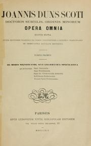 Cover of: Opera omnia by John Duns Scotus