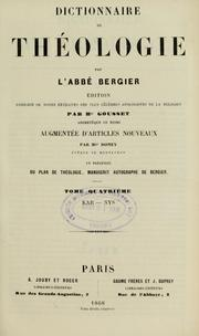 Cover of: Dictionnaire de théologie by Bergier M.