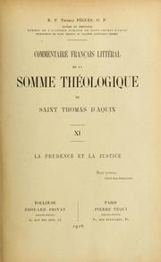 Cover of: Commentaire français littéral de la Somme théologique de Saint Thomas d'Aquin by Thomas Pègues
