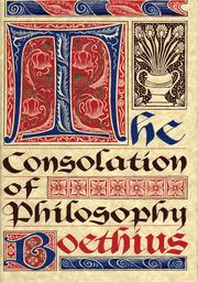 Cover of: The Consolation of Philosophy (De consolatione philosophiae) by Boethius, Boethius