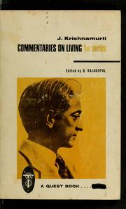 Cover of: Commentaries on living by Jiddu Krishnamurti