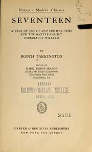 Cover of: Seventeen by Booth Tarkington