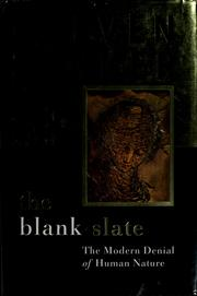 Cover of: The blank slate by Steven Pinker