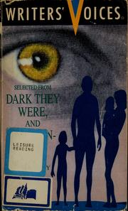 Cover of: Selected from Dark they were, and golden-eyed by Ray Bradbury