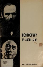 Cover of: Dostoevsky by Andr Gide