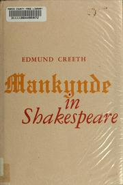 Cover of: Mankynde in Shakespeare by Edmund Creeth