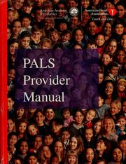 Cover of: PALS provider manual by Mary Fran Hazinski