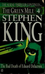 Cover of: The Bad Death of Eduard Delacroix by Stephen King