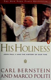 Cover of: His Holiness by Carl Bernstein
