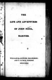Cover of: The life and adventures of John Nicol, mariner by John Nicol