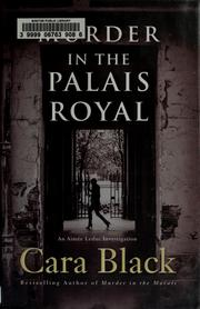 Cover of: Murder in the Palais Royal by Cara Black