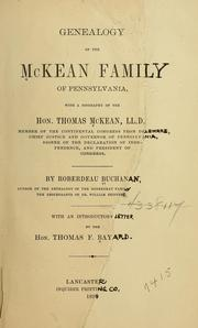 Cover of: Genealogy of the McKean family of Pennsylvania by Roberdeau Buchanan