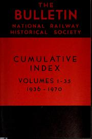 Cover of: Bulletin by National Railway Historical Society