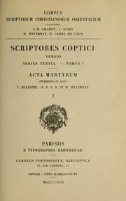 Cover of: Acta martyrum by Giuseppe Balestri