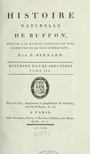 Cover of: Histoire naturelle de Buffon by Buffon, Georges Louis Leclerc comte de