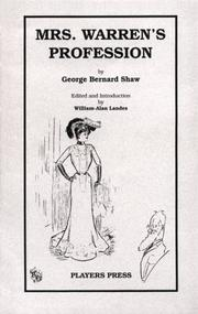 Cover of: Mrs. Warren's Profession by George Bernard Shaw