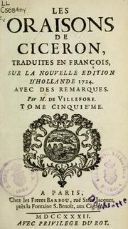 Cover of: Les oraisons by Cicero