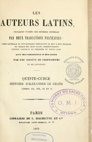 Cover of: Histoire d'Alexandre le Grand by Quintus Curtius Rufus