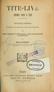 Cover of: Livres XXVI à XXX by Titus Livius
